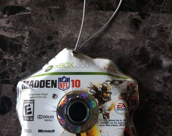 Christmas Ornaments Handmade -Madden NFL- Christmas Decoration, Upcycled Recycled Repurposed, Video Game, Video Game Decor, Video Game Art