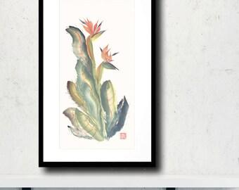 Bird of Paradise Original Chinese Brush Painting