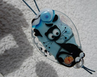 Cat Bead - three spacer beads - by Ulrike Dietrich