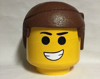 Custom LEGO inspired Emmet costume head
