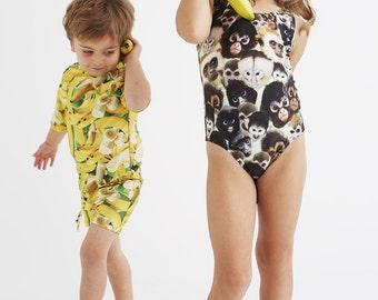 MONKEYS: Girl's Tank Swimsuit