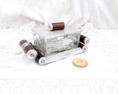 Antique Art Deco Glass / Mirror / Wooden Cookie / Biscuit Jar / Tin / Box, Retro, Vintage, Home, Interior, Jewellery,  Trinket, Jewelry