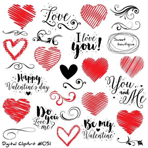 Love Clip Art, Love Quote, Valentines Day Clipart, Quotes