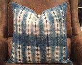 vintage african indigo mudcloth pillow cover/ boho burkina faso pillow cover