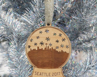 Seattle Snow Globe Ornament