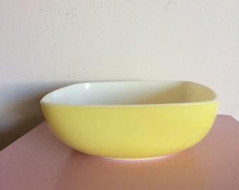 Large Yellow Pyrex Square Bowl