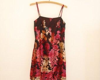 Purple Velvet Burn-Out Mini Dress - Early 90s