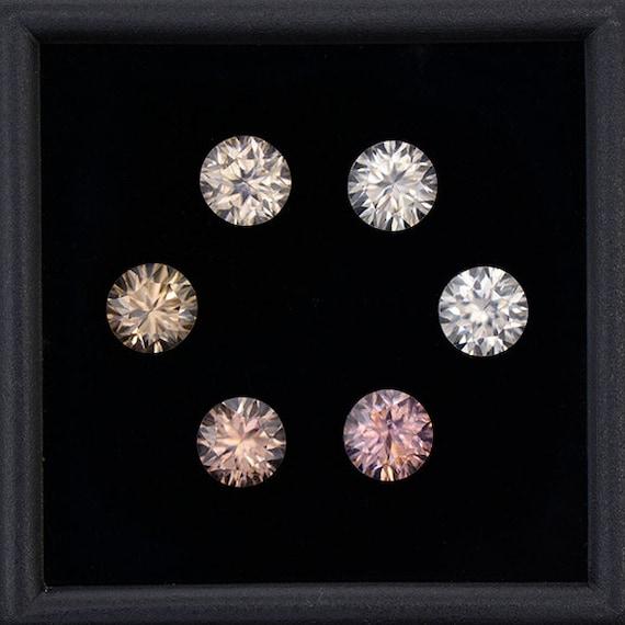 Excellent Silvery Zircon Gemstone Set From Australia 5 25
