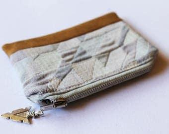 Arrowhead Purse, Zipper Card Holder, Coin Purse, Change Pouch, coin pouch, Card Wallet, Zipper Pouch, Small purse, tobacco pouch, bohemian