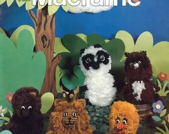 Macrame Wild Kingdom • 1970s Macrame Animal Patterns • Kitty Dog Lion Mouse Duck • 70s Vintage Macramé Retro PDF