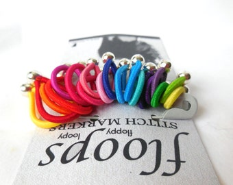 "choose size!  FLOOPS  knitting stitch markers  - ""Brilliant"""