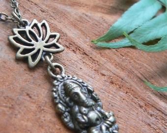 spiritual necklace Zen necklace Protection necklace Quan-Yin Buddha necklace meditation new age yoga  boho style  style