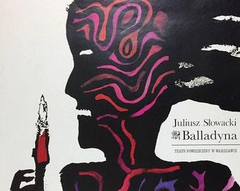 Polish Theater Poster Juliusz Slowacki Balladyna Teatr Powszechny W Warszawie