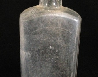 Antique/Vintage Glass Medicinal Bottle from 1870's   (LDT5)
