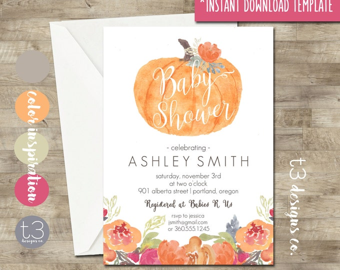 Boy Baby Shower Invitation Template - Creative Market