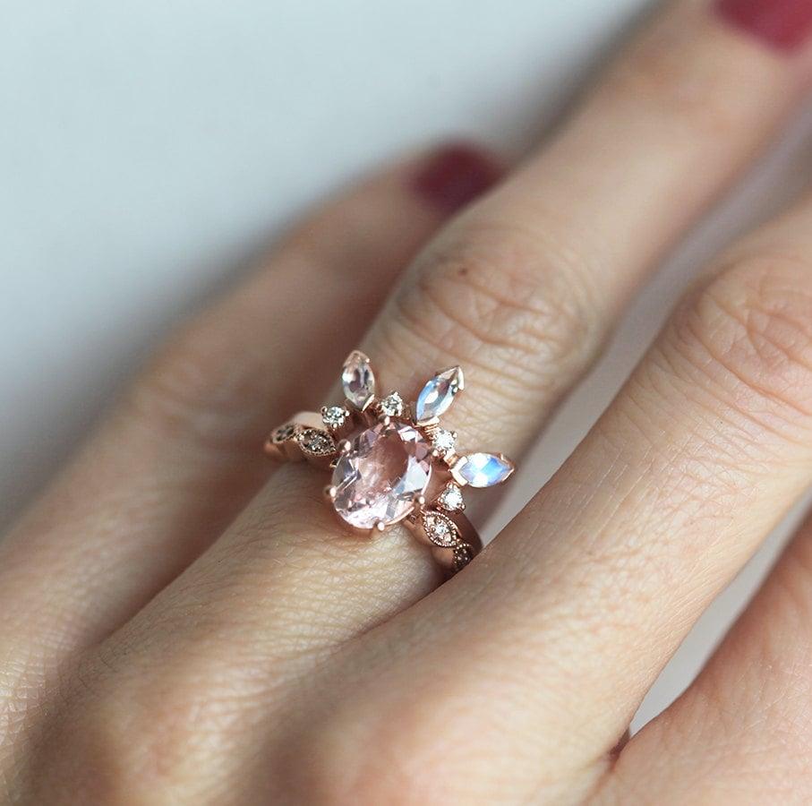 moonstone diamond wedding band moonstone owl wedding ring zoom