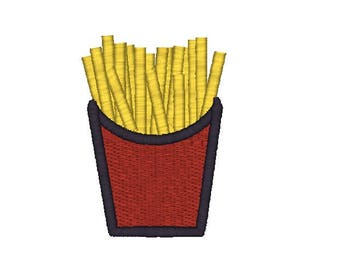 French Fries Machine Embroidery Design, fries embroidery design, fast food embroidery design, fries embroidery, picnic pattern