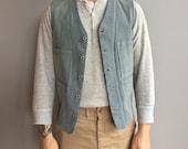 RRL Ralph Lauren Railroad veste de Denim avec quatre poches à l'avant, boucle arrière serre taille