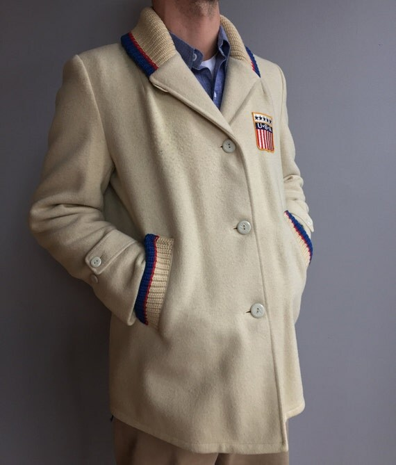 Lakeland Vintage USA Winter Olympic Wool Parade Coat 1964 Innsbruck Collectible