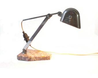 Art Deco Table lamp or Desk Lamp with Marble 1930s Home Decor Desk Decor