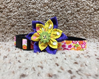 Flower Dog Collar/leash sets, flower dog Collar, colorful collar,  dog collar , collars, Summer dog collar,