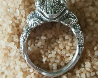 Sterling Silver Frog Ring (st - 1982)