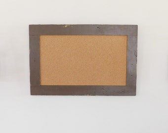 framed cork board corkboard made from distressed wood shown in dark chocolate 24 x 36 more colors available