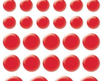 Bella Blvd Color Chaos Enamel Dots, Scrapbook Stickers/Embellishments - McIntosh