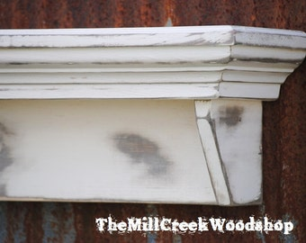 Handmade Shelf Rustic Distressed Wall By Themillcreekwoodshop