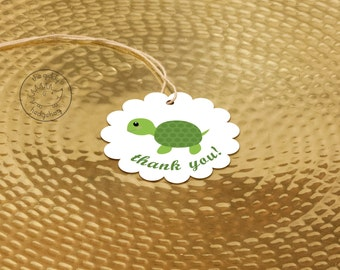 40+ Baby Turtle Party Favor Tags, Turtle Thank You Labels, Turtle Birthday, Neutral Baby Shower, Turtle Party, Turtle Baby Shower Tags