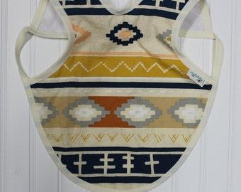 Tribal Bapron, Full Coverage Apron Bib, Art Smock, Baby Toddler Apron Bib, Aztec, Tribal Design