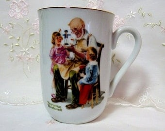 Norman Rockwell Coffee Mug, Original Box, Children Themes from 1920s Paintings