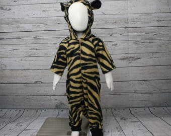Tan and Black Tiger Costume Size 6-9M