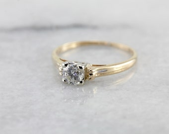Timeless Diamond Solitaire Engagement Ring W9J51E-N