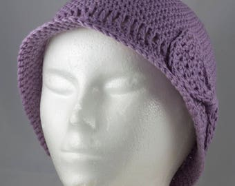 Lightweight Cloche in Lavender for Cancer Patients