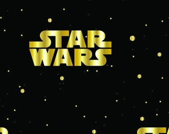 "Star Wars™ Metallic Logo Cotton Fabric BTHY 18""x43"""