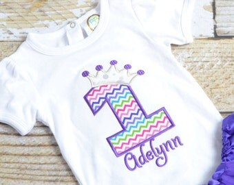 Purple Princess birthday Outfit - Purple Princess birthday shirt/tee! 1st, 2nd, 3rd, 4th, 5th, etc birthday shirt or birthday outfit!