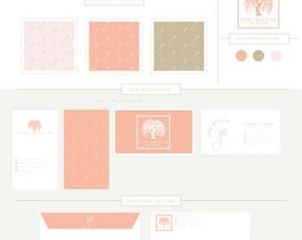 FULL BRANDING PACKAGE includes business cards letterhead stationary  Willow Tree Logo 1, Elegant Script