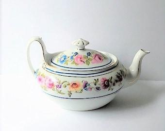 F & W Czechoslovakia Teapot Floral Design / Tea Pot
