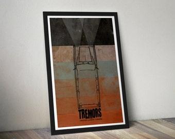 Tremors - 12x18 inch Movie Poster - Alternative Minimalist Fan Art