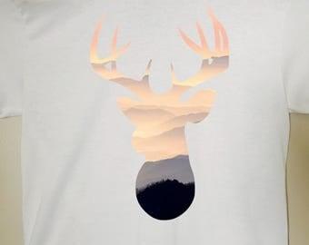 Deer Head Shirt - Deer Head Silhouette - T-Shirt, Tank, Vneck