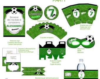 Football soccer Printable birthday Party
