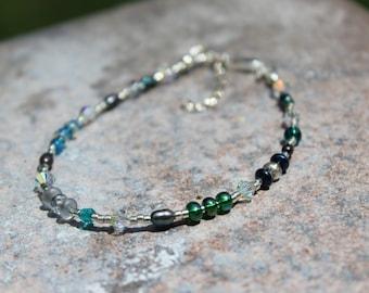 Thin Bracelet. Boho Bracelet, Sterling Bracelet, Layering Bracelet, Delicate Bracelet, Trending Jewelry, Boho Jewelry, Colorful Bracelet