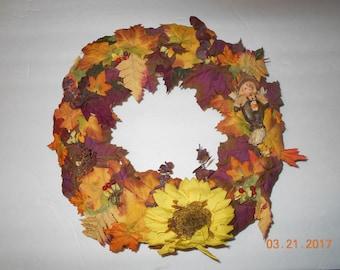 Autum Wreath - fall - Holiday - scarecrow