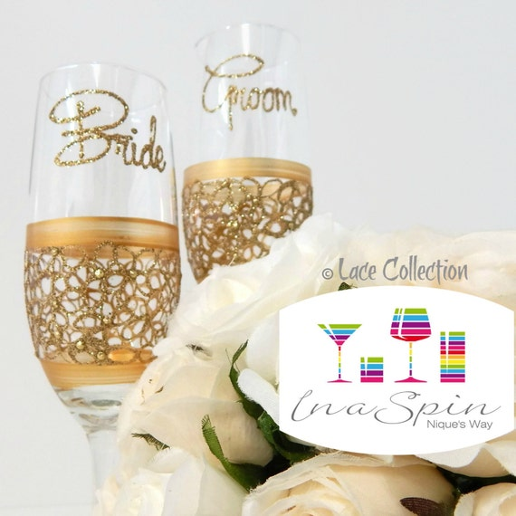 Personalised Wedding Table Gifts : ... Table Gold Personalized Wedding Glasses Gifts and Mementos For Wedding