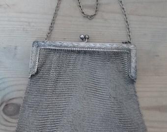 Large vintage mesh purse