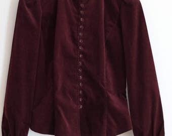 Sale: Purple Velvet Blouse, Size M