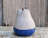 Concrete Blue Dipped Pear