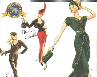 Simplicity Couturier Doll Clothes 9317 1930s Evening Outfits for Barbie Sewing Pattern CUT