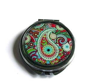 BOHO Compact MIRROR - Pocket Mirror - Bohemian accessories - boho style - paisley - indian mirror
